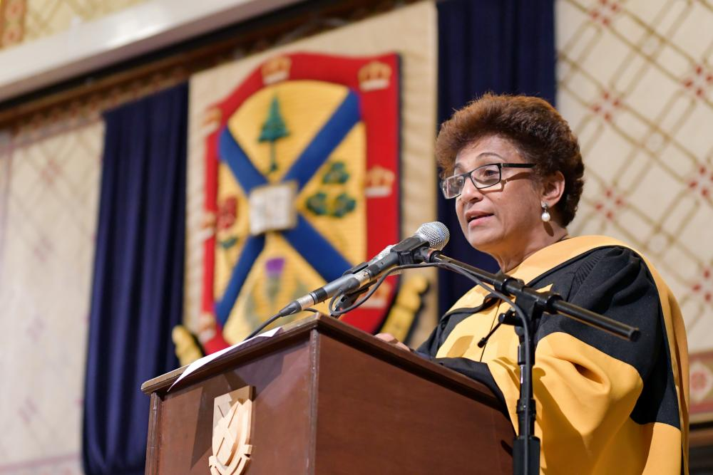 Honorary degree recipient Indira Samarasekera