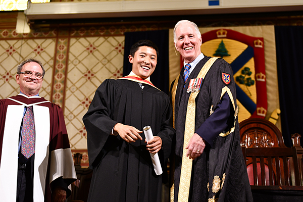 Former Rector Cam Yung and Chancellor Jim Leech