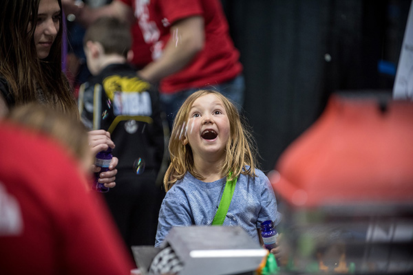 A young visitor to Science Rendezvous