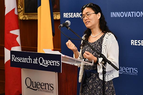 Professor Li-Jun-Ji at SSHRC announcement