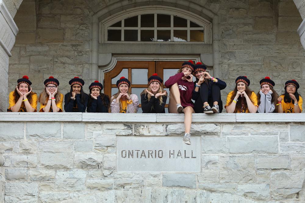 Students at Ontario Hall