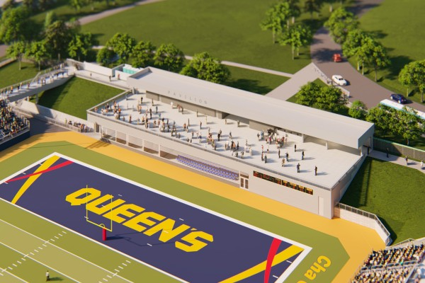 Design rendering of new pavilion at Richardson Stadium