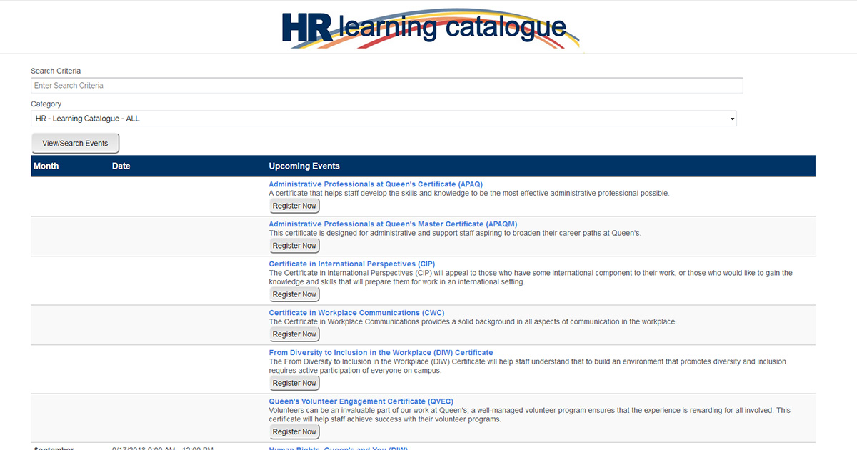 new hr learning catalogue has something for everyone queen s