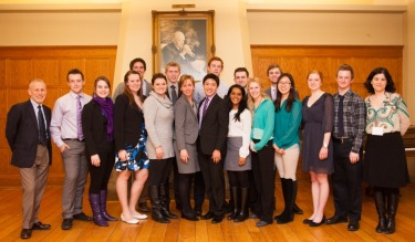 [Provost Alan Harrison with Loran scholars]