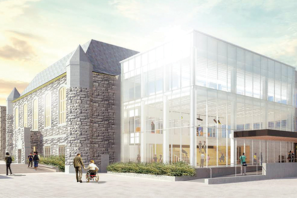 [Innovation and Wellness Centre architect rendering]