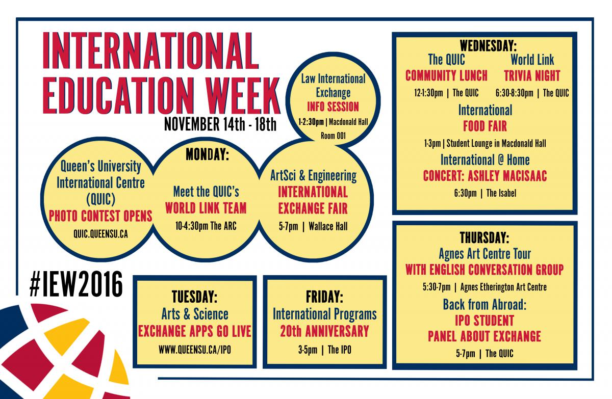 international education week This international education week we reflect on our role in the noble cause of creating a more peaceful, understanding and cooperative world through education.