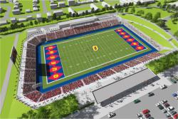 [An architect's rendering of what Richardson Stadium could look like.]