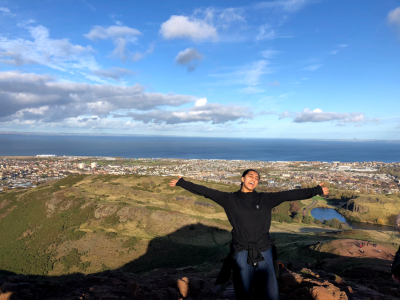 Shivangi Mistry at Arthur's Seat, UK