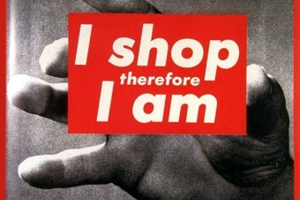 An image of text that reads: I shop therefore I am