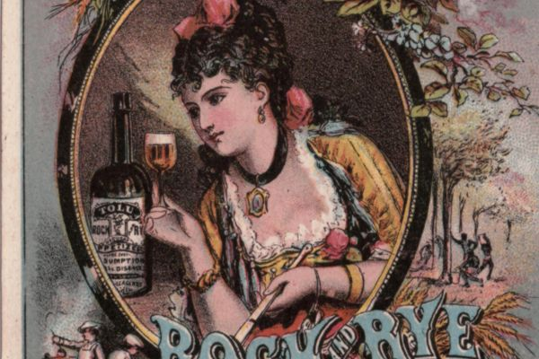 An image of an advertisement from the late 19th century for Lawrence & Martin's Tolu Rock and Rye as a cure for illnesses and diseases