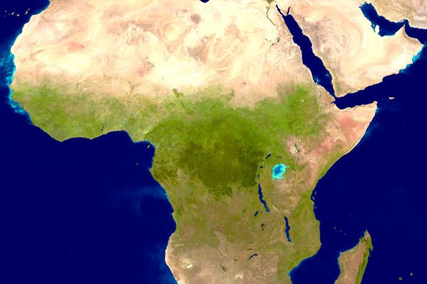 Image of a satellite photo of the African continent