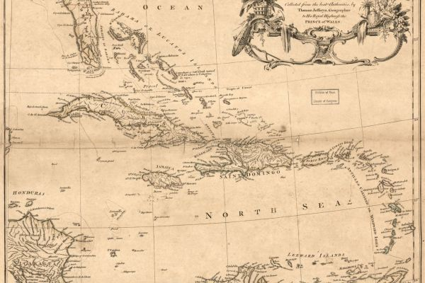 Map of the West Indies from 1771 exhibiting the English, French, Spanish, Dutch & Danish settlements