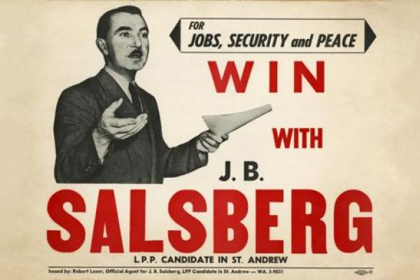 Image of a Campaign poster for J.B. Salsberg