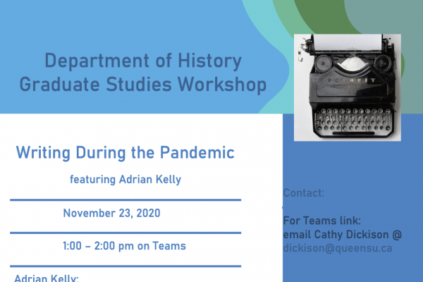 Poster for Writing During the Pandemic