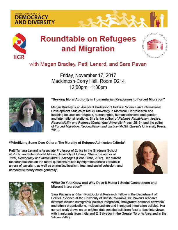 Refugee and Migration Roundtable November 17 2017