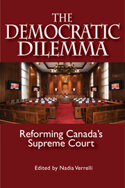 The Democratic Dilemma: Reforming Canada's Supreme Court book cover [JPG]