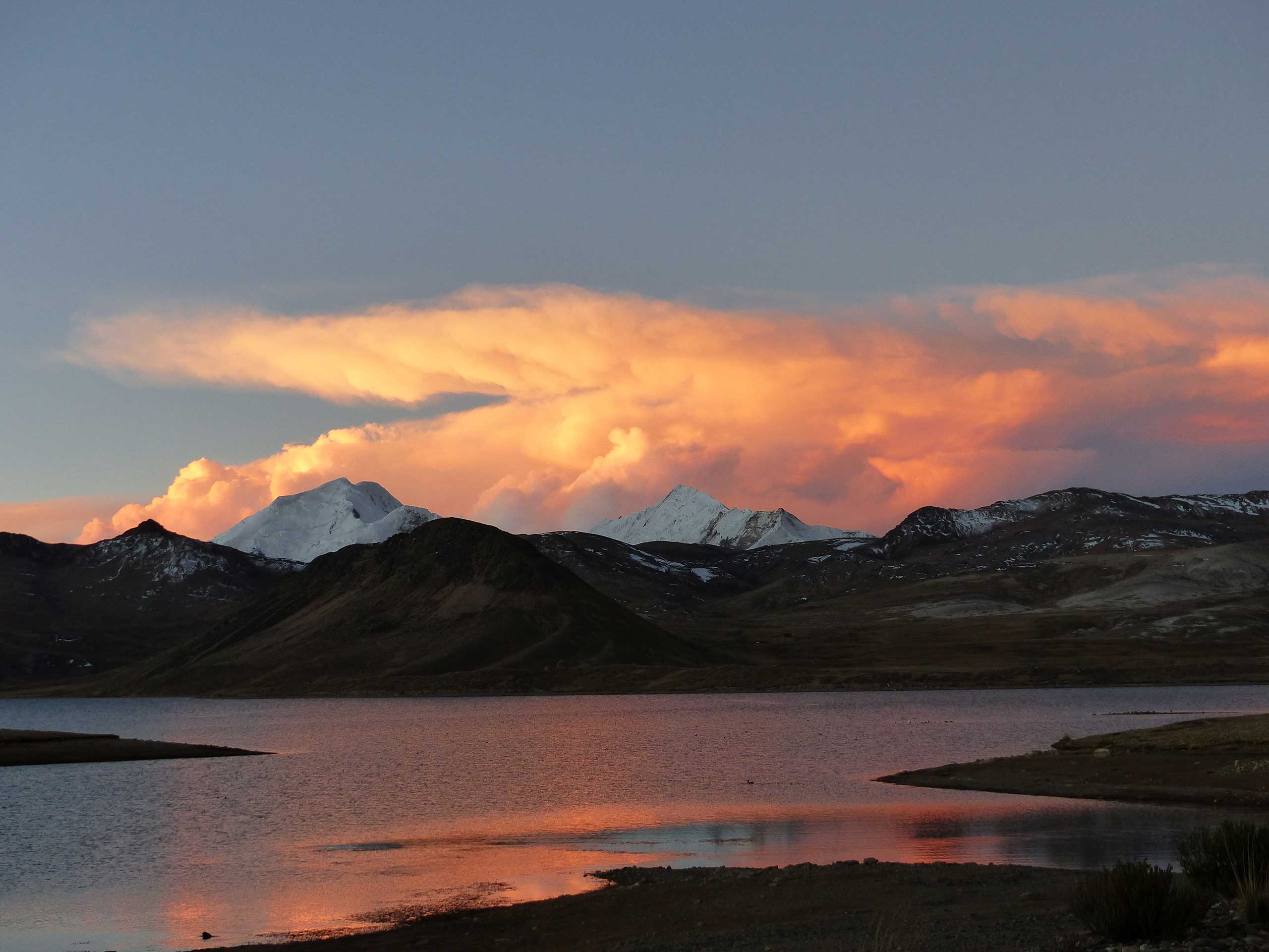 5000m High Sunset in the Andes