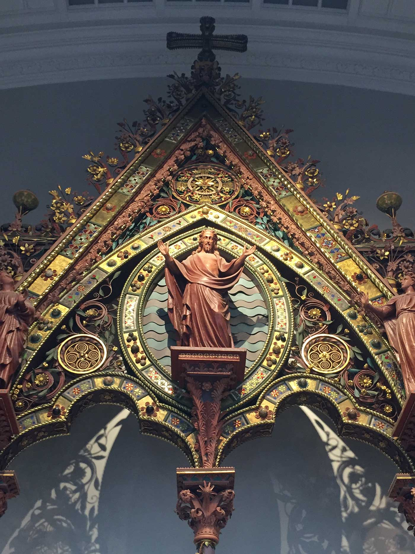 Christ in Majesty, Hereford Choir Screen, George Gilbert Scott 1862