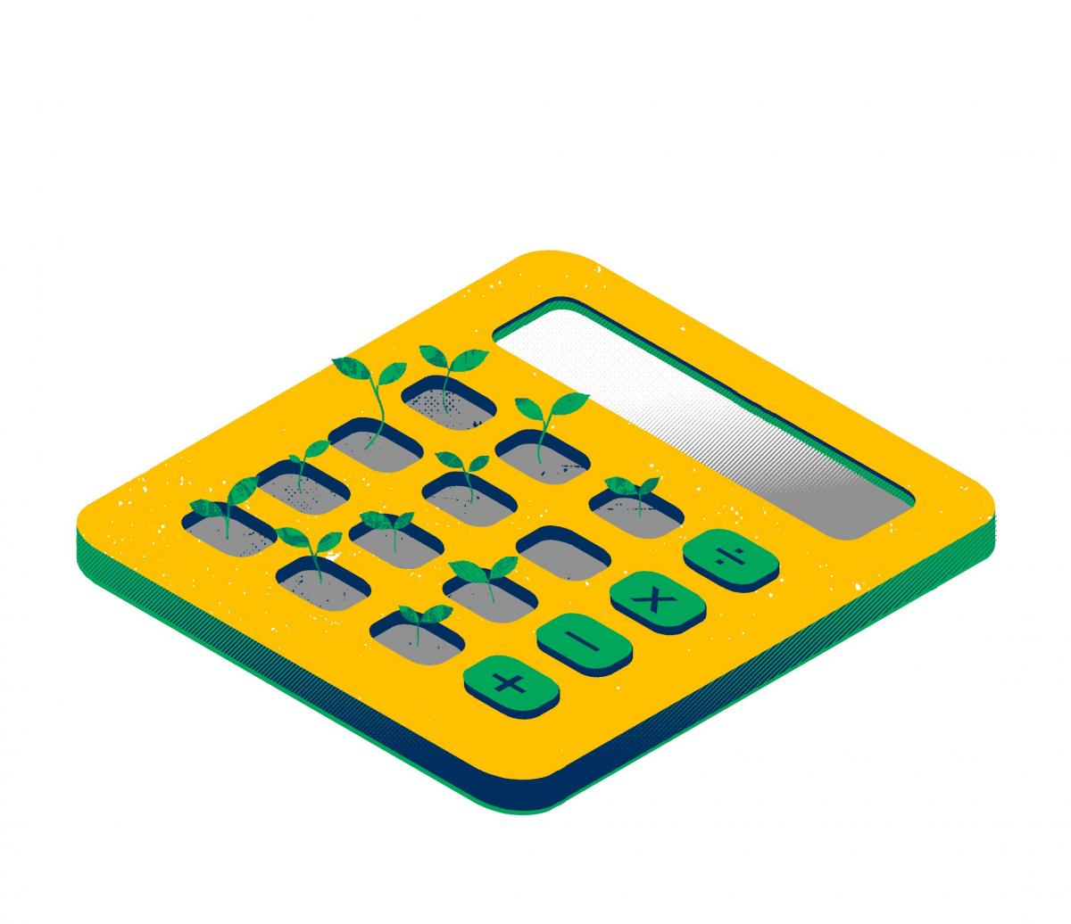 [Illustration of a calculator by Gary Neil]
