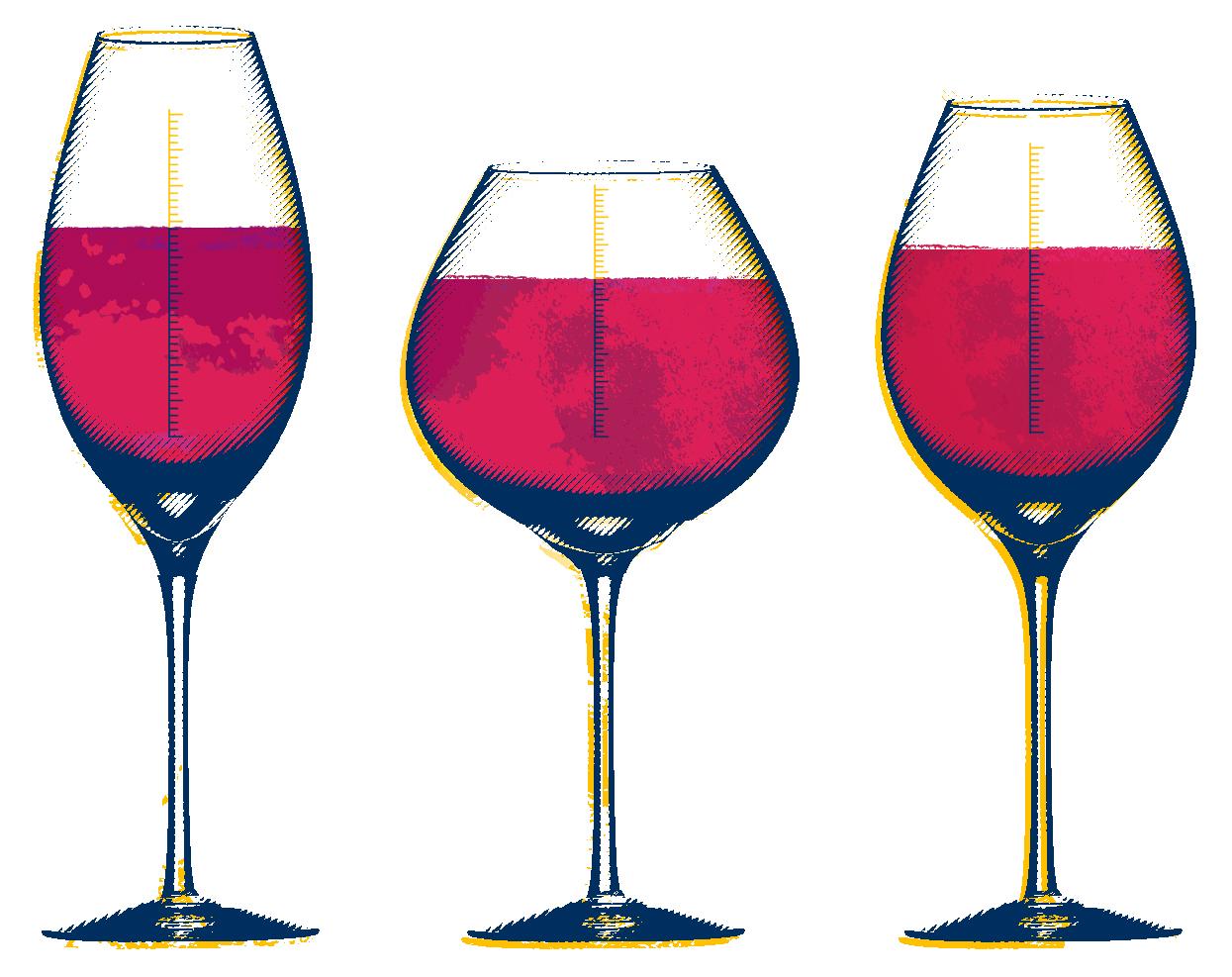 [illustration - wine glasses]