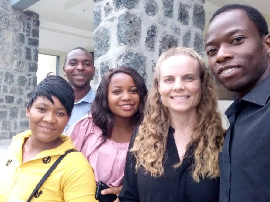 Susan Bartels, Associate Professor in the Departments of Emergency Medicine and Public Health at Queen's University, with her colleagues in the Democratic Republic of Congo during her earlier visit.