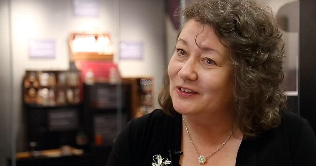 Heather Stuart speaking to interviewer.