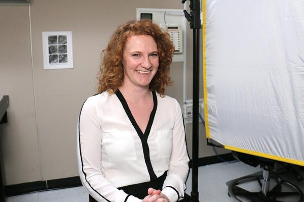 [Michelle Thompson in NASA lab]