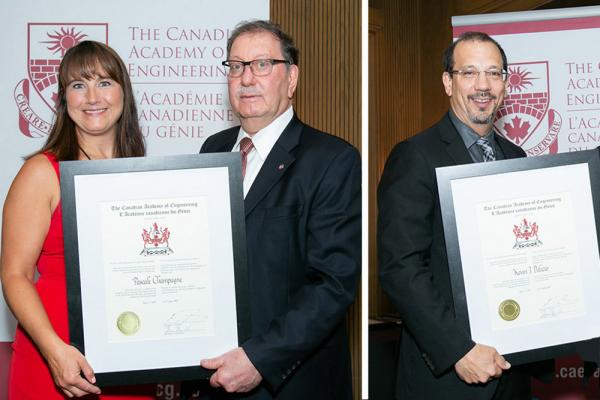 [Pascale Champagne and Kevin Deluzio receive awards]
