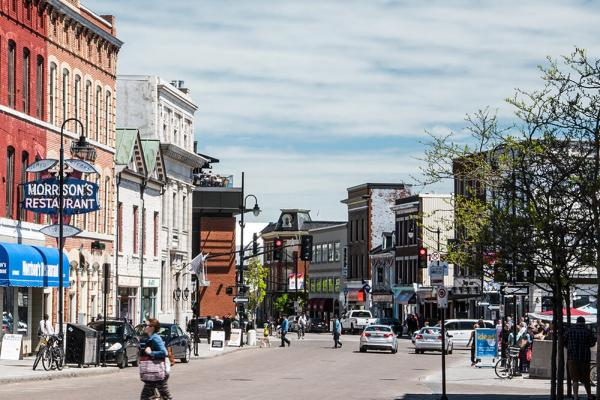 [Photograph of downtown Kingston]
