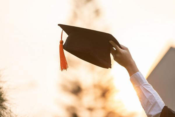 [Photograph of a graduation cap]