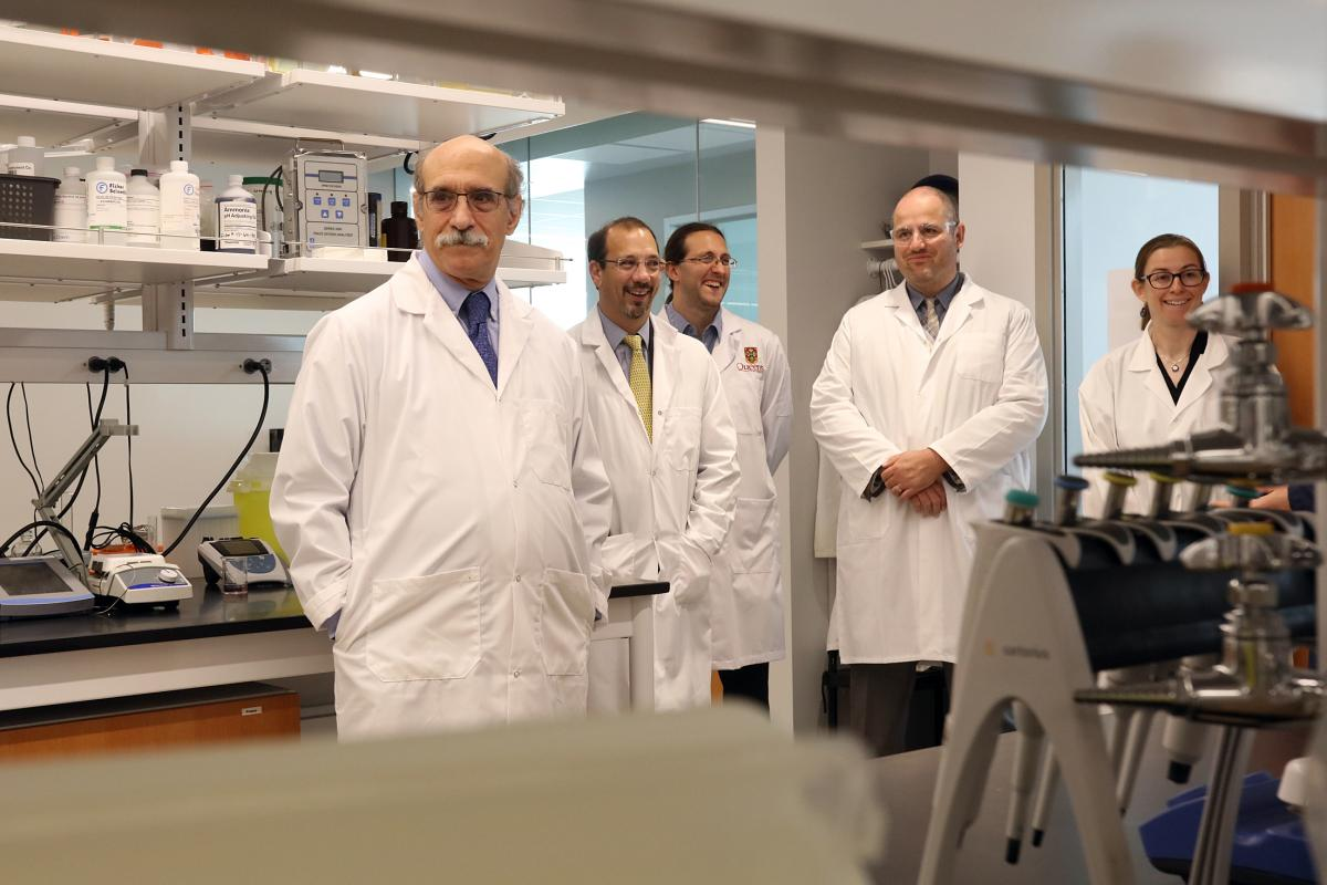 Students, faculty, and staff also toured Dr. Martin Chalfie through cutting-edge new laboratory spaces at the Beaty Water Research Centre