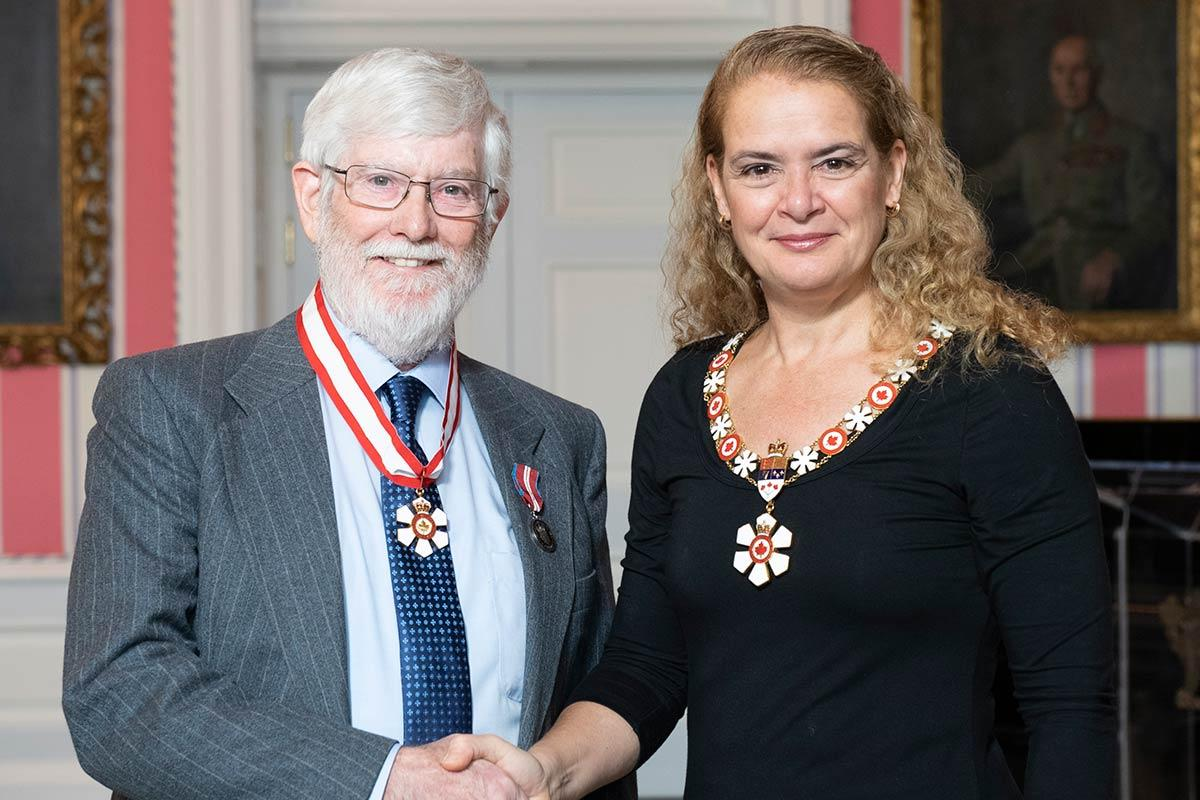 Rowe with Governor General Julie Payette
