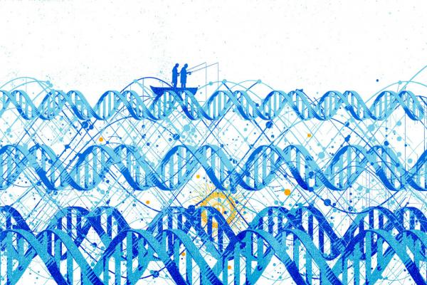 Fishing in DNA illustration