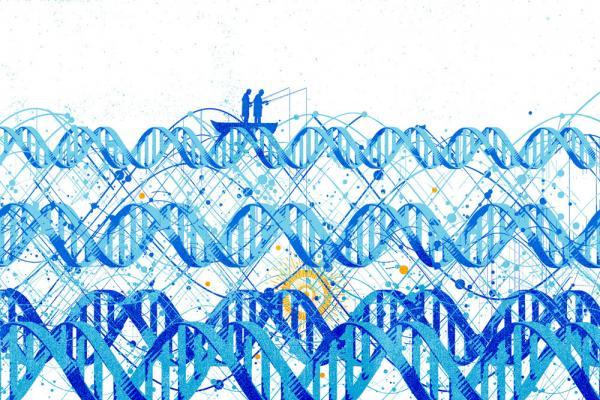 Fishing in DNA illustration