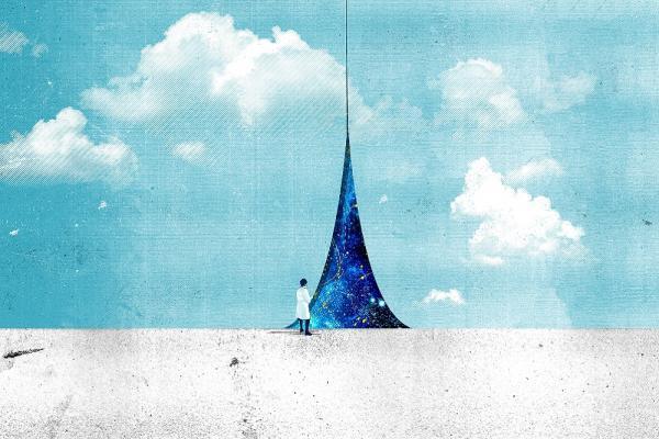 [neutrino research - concept illustration]