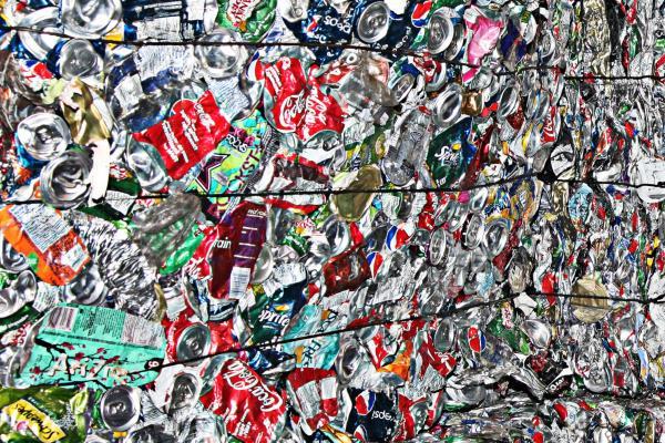 [Image of trash bundles]