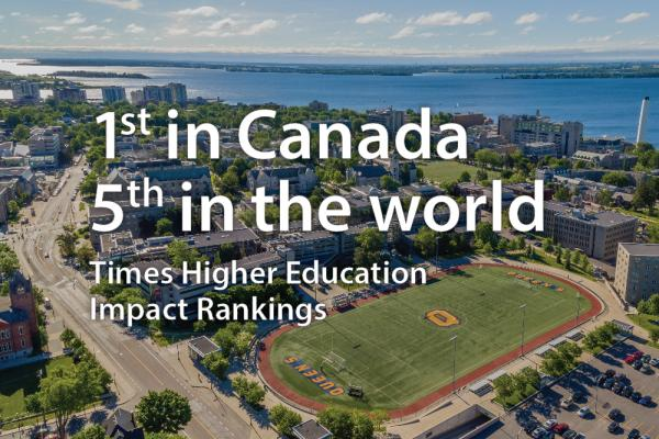 [1st in Canada 5th in the world Times Higher Education Impact Rankings]