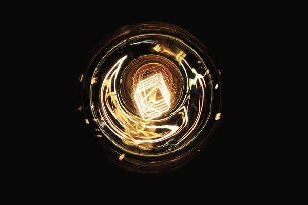 [light bulb filament detail]