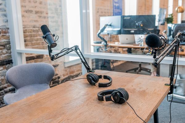 [Radio recording studio]