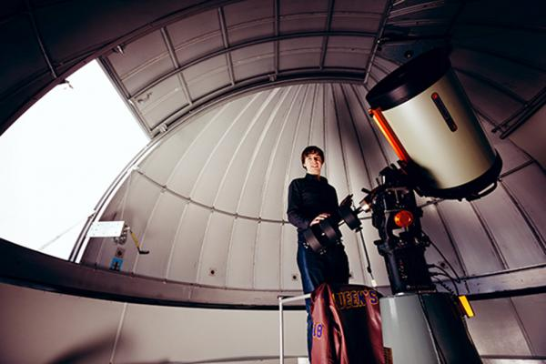 [photo of Connor Stone in Observatory]