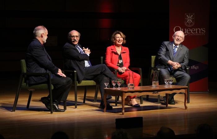 Nobel Prize Inspiration at Queen's University panelists on stage