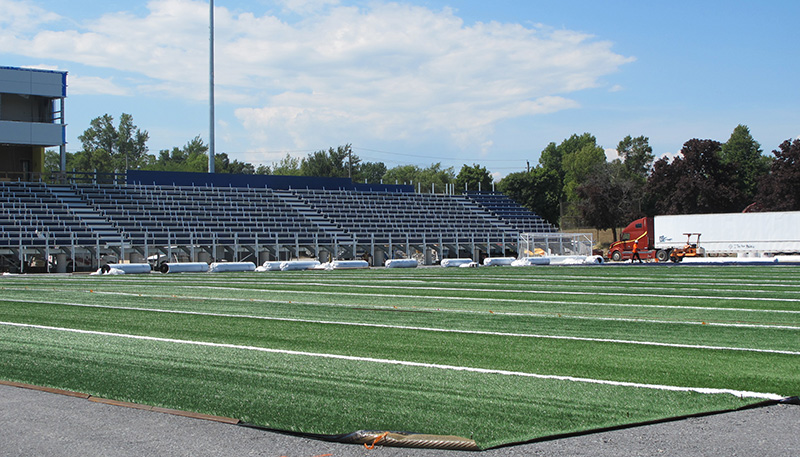 [Richardson Stadium turf installation]