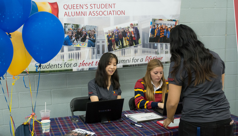 [QUAA table at the Career Fair]