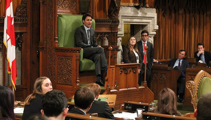 [Prime Minister Justin Trudeau at Queen's Model Parliament
