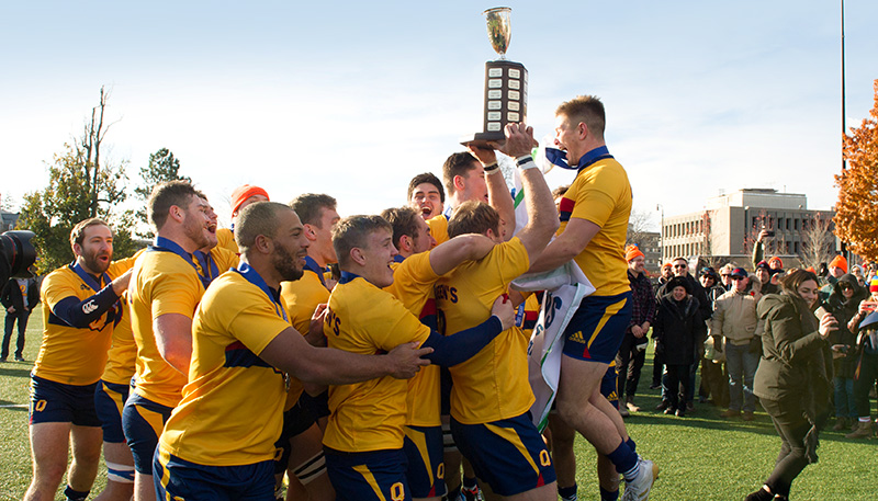 [men's rugby OUA champions]