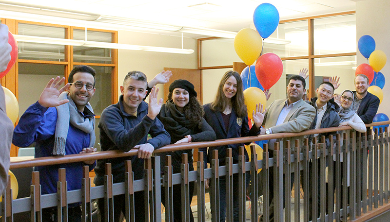 [opening of the Helen Howard Graduate Students Reading Room]