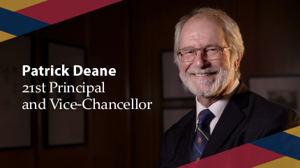 [Announcing the 21st Principal and Vice-Chancellor]
