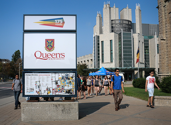 [Queen's Welcome sign