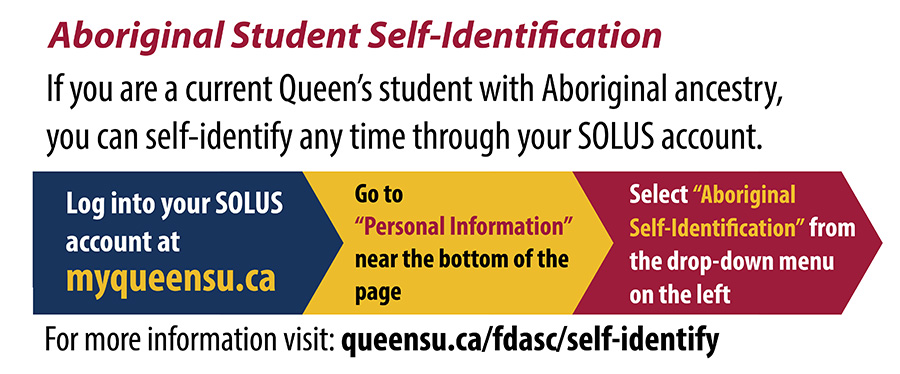 [Self-identify as an Aboriginal student in SOLUS]
