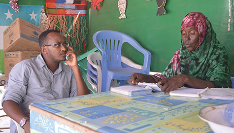 [Weldemichael speaking with Asha Abdulkarim Hersi]